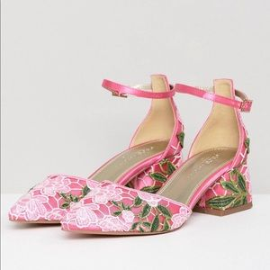 BRAND NEW ASOS Floral Lace Mid Heels